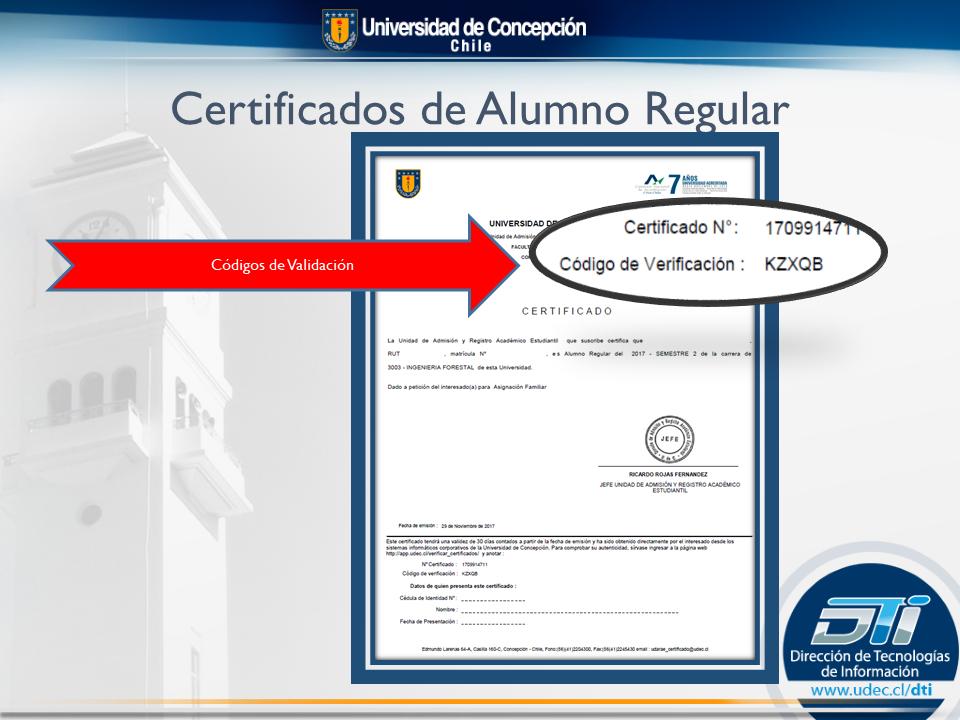 certificado alumno regular pregrado
